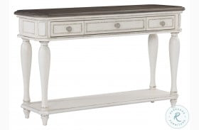 Willowick Antique White And Brown Cherry Sofa Table