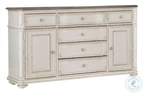 Willowick Antique White And Brown Cherry Buffet