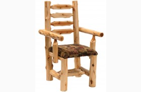 Cedar Upholstered Log Arm Chair