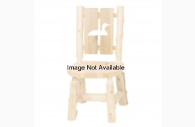 Cedar Cut-Out Pine Tree Log Side Chair