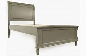 Avignon Grey Twin Panel Bed