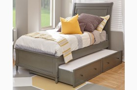 Avignon Grey Twin Panel Bed with Trundle Bed