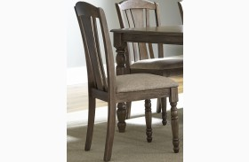 Candlewood Weather Gray Slat Back Side Chair Set of 2