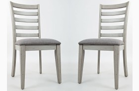 Sarasota Springs Upholstered Ladder Back Dining Chair Set of 2