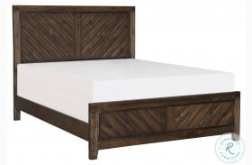 Parnell Distressed And Wire Brushed Coffee Panel Bed