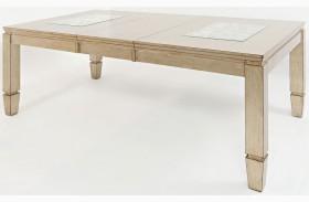 Casa Bella Vintage Silver Extendable Rectangular Dining Table