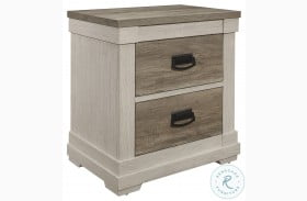 Arcadia White And Weathered Gray Nightstand