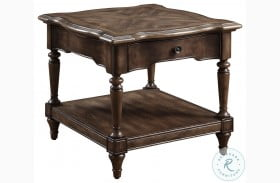Heath Court Brown Wood End Table
