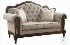 Heath Court Brown Loveseat