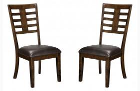 Bella Warm Chocolate Cherry Side Chair Set of 2