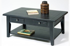 Treasures Black Rectangular Cocktail Table