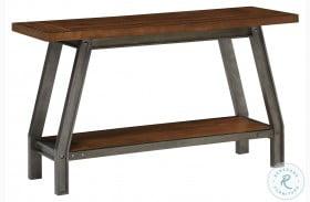 Holverson Rustic Brown And Gunmetal Sofa Table