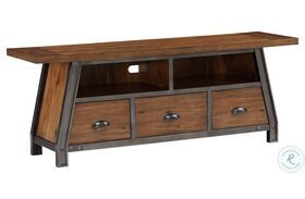 """Holverson Rustic Brown And Gunmetal 64"""" TV Stand"""