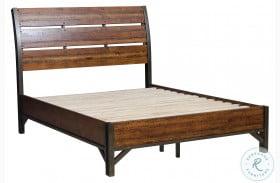 Holverson Brown Milk Crate Sleigh Bed