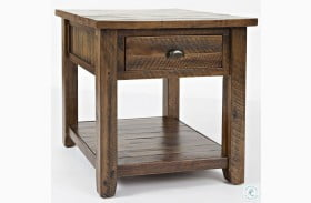 Artisans Craft Dakota Oak End Table