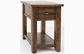 Artisan's Craft Dakota Oak Finish Chairside Table