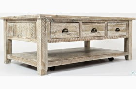Artisans Craft Washed Grey Cocktail Table