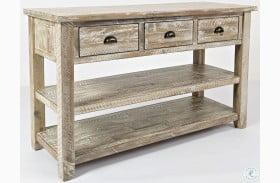 Artisans Craft Washed Grey Sofa Table