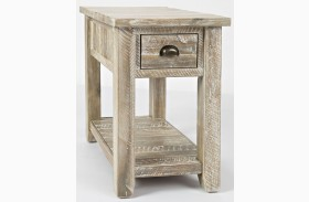 Artisan's Craft Washed Grey Finish Chairside Table