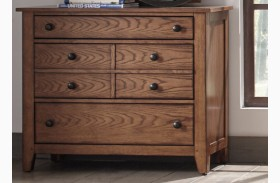 Grandpa's Cabin Aged Oak 3 Drawer Dresser