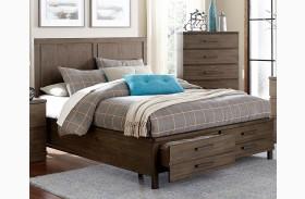 Bracco Brown Platform Storage Bed