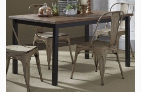 Vintage Weathered Gray Rectangular Leg Dining Table