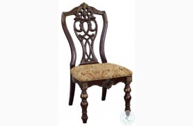 Catalonia Dark Cherry Side Chair Set Of 2