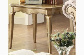 Chambord Champagne Gold End Table
