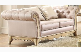 Chambord Champagne Gold Loveseat