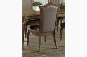 Chambord Faux Silk Side Chair Set of 2