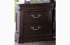 Mont Belvieu Cherry Hidden Drawer Nightstand