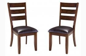 Abaco Warm Dark Tobacco Side Chair Set of 2