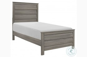 Waldorf Dark Gray Youth Panel Bed