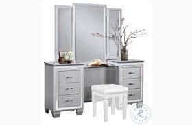 Allura Silver Vanity with Mirror
