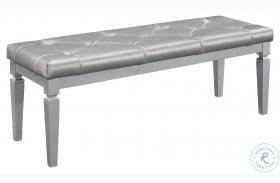 Allura Silver Bed Bench