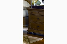 Down Home Oatmeal 3 Drawer Nightstand