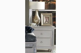 Bevelle Silver Nightstand