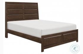 Erwan Rich Espresso Panel Bed