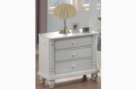 Kayla White Nightstand - 201182