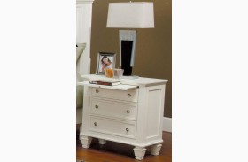 Sandy Beach White Nightstand - 201302