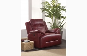 Cortez Red Glider Recliner