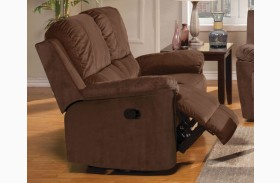 Parker Jayden Chocolate Dual Reclining Loveseat