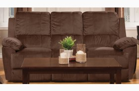 Parker Jayden Chocolate Reclining Sofa