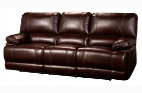 Wyoming Newark African Chestnut Power Reclining Sofa