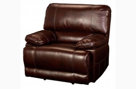 Wyoming Newark African Chestnut Power Recliner