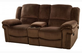 Jared Chocolate Power Reclining Loveseat with Console