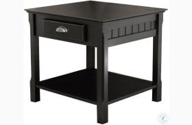 Timber Black 1 Drawer End Table