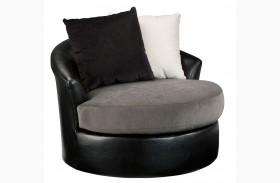 Armant Ebony Swivel Accent Chair
