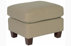 Carlyle Adobe Leather Ottoman