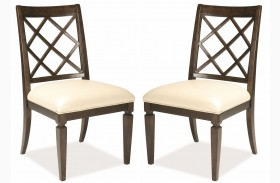 Classic Splat Back Side Chair Set of 2